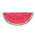 ripe watermelon slice hand drawn isolated icon vector image
