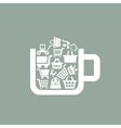 Sale a cup vector image vector image