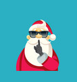 secret santa ready for christmas party vector image vector image