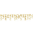 serpentine streamers border vector image vector image
