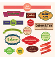 set bakery labels ribbons and cards for your vector image