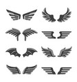 set wing symbol vector image