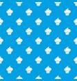 sweet cupcake pattern seamless blue vector image vector image