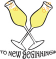 To New Beginnings vector image vector image