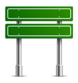 traffic green sign board road text panel vector image vector image