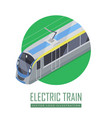 tramway icon in isometric projection vector image vector image