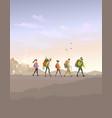 trekking color vector image
