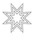 trendy retro star the black color icon vector image vector image