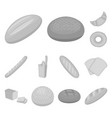 types of bread monochrome icons in set collection vector image vector image