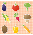 vegetable icons vector image vector image