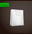white shopping bag mock-up vector image