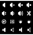 white speaker icon set vector image