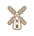 windmill icon design template isolated vector image vector image