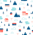 Winter town landscape pattern