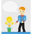 Young businessman talking about his new idea vector image