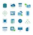 Datacenter Flat Icon Set vector image
