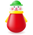 roly poly doll toy vector image