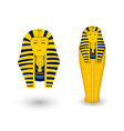 pharaoh coffin and mask on white vector image