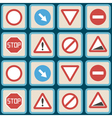 seamless background with traffic signs vector image