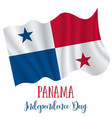 3 november panama independence day background vector image
