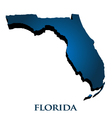 3D Graphic Map Of Florida State vector image