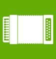 accordion icon green vector image vector image