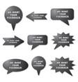 adverising feedback banners vector image vector image