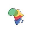 africa map logo design vector image