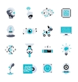 Artificial Intelligence Flat Icon Set vector image vector image