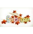 Autumn label vector image