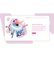 ballet dance girl and guy dance classes web page vector image vector image
