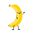 banana in flat style isolat vector image