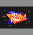 banner with text black friday vector image vector image