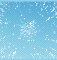 beautiful falling snow christmas background subtl vector image