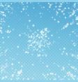 beautiful falling snow christmas background subtl vector image vector image