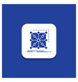 blue round button for data framework app cluster vector image vector image