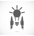 Bulb with jet engines vector image vector image