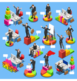 Businessman Set Isometric People vector image