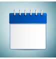 Calendar icon isolated on blue background vector image vector image