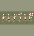 cartoon cute hipster boy character big set vector image vector image