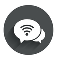 Chat speech bubbles Wifi sign Wi-fi symbol vector image vector image