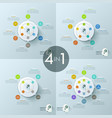 collection of 4 creative infographic design vector image vector image