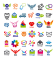 collection of logos mail messages vector image vector image