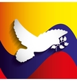 colombian peace dove with olive branch vector image