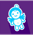colored sticker angel vector image vector image
