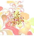 Colorful floral card vector image vector image