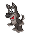 Cute wolf toy cartoon postcard isolated object
