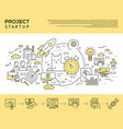 Digital yellow startup business vector image
