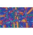 fantastic colorful doodle retro style fun vector image vector image