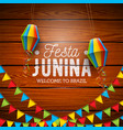 festa junina with party flags and vector image vector image